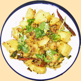 potato curry with cumin.